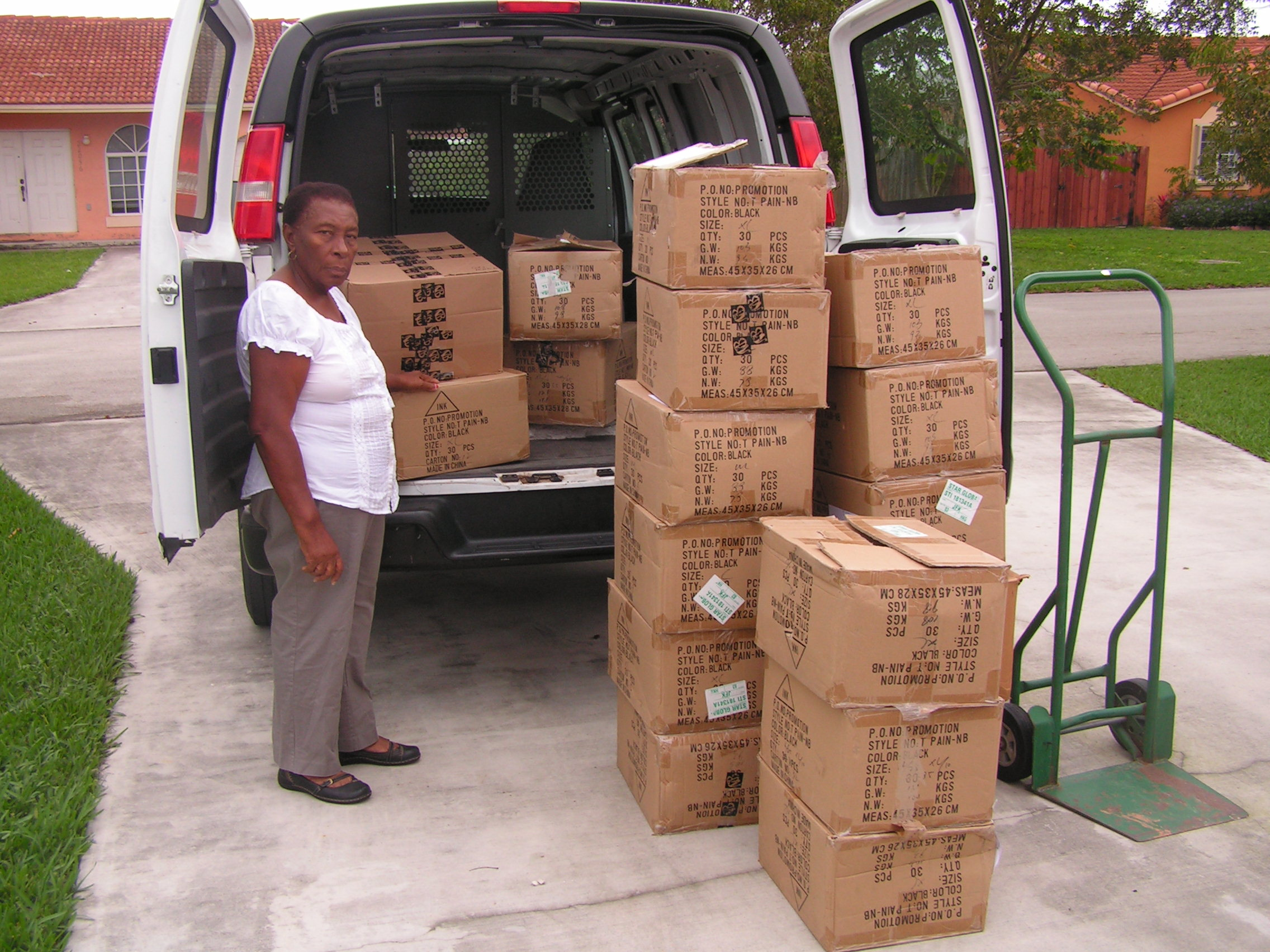 Mrs. Buton came from Haiti after the earthquake to help with Haiti Relief efforts in Miami.